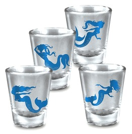 Mermaids Set of 4 Shot Glass