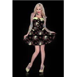 Jawbreaker Zombie Girl Halter Neck Dress
