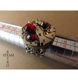 Vintage Steampunk Filigree Ring Steamretro