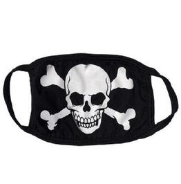Skull Crossbones Washable Reusable Fabric Face Mask