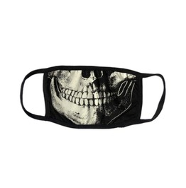 Skull Death Keep Smiling Washable Reusable Fabric Face Mask