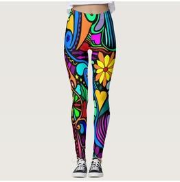 Colorful Print Leggings