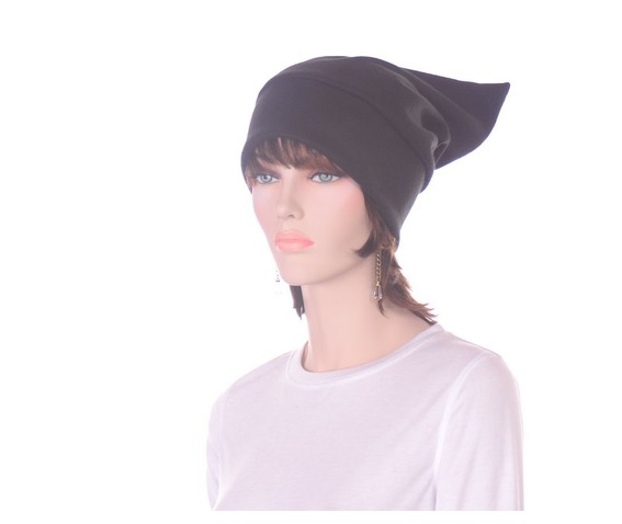 black_pointed_elf_hat_stocking_cap_dwarf_hat_headwear_6.JPG