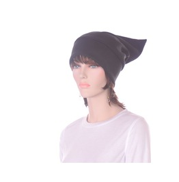 Black Pointed Elf Hat Stocking Cap Dwarf Hat
