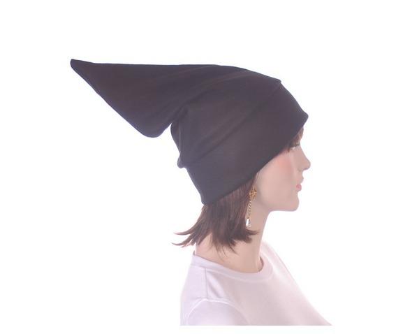 black_pointed_elf_hat_stocking_cap_dwarf_hat_headwear_5.JPG