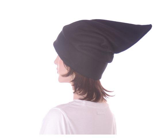 black_pointed_elf_hat_stocking_cap_dwarf_hat_headwear_4.JPG