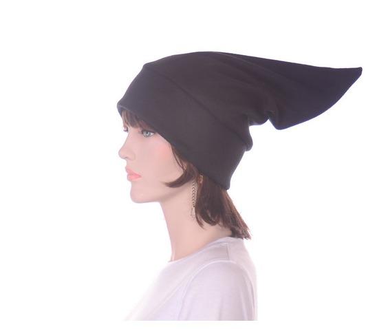 black_pointed_elf_hat_stocking_cap_dwarf_hat_headwear_3.JPG