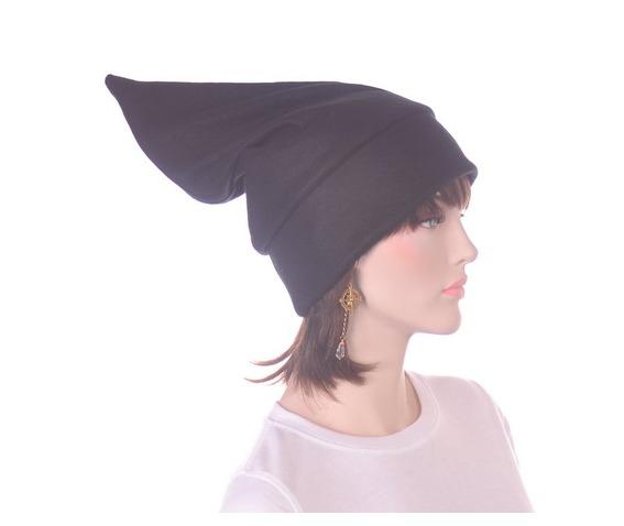 black_pointed_elf_hat_stocking_cap_dwarf_hat_headwear_2.JPG