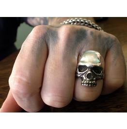 Skull Ring, Keith Richards Style Skull Ring, Sterling Silver Skull Ring,