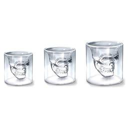Goth 3 Sizes Two Ways Transparent Skull Shot Glass