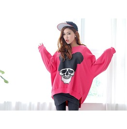 Cute Skull Pattern Women Casual Hoodie