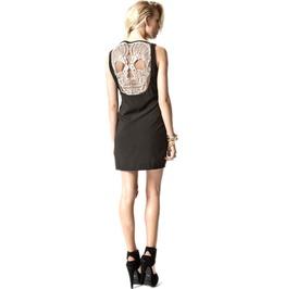 Black Minidress Lace Skull Back