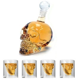 Crystal Skull Whisky Glass