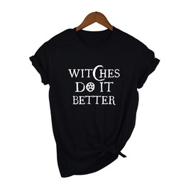 Witches Do It Better Witchcraft Black T-Shirt Top