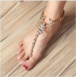 Oversize Scorpion Anklet