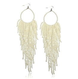 Beautiful! Long Glass Bead Tassell Design Earrings