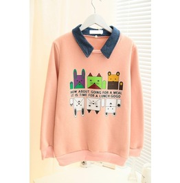 Cute Cartoon Theme Pattern Women Hoodie
