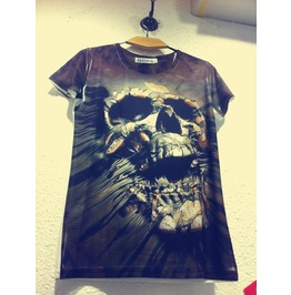 Punk Skull Pattern Rock Women/Men T Shirt Tee