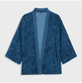 Men's Casual Flower Printed Kimono Jackets