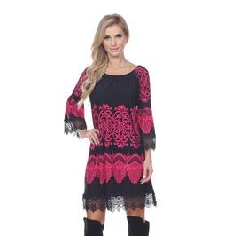 Boho 3/4 Sleeve Mini Dress