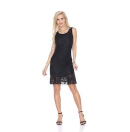 Lace Overlay Mini Dress