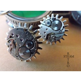 Steampunk Gearwheel Cufflinks Steamretro