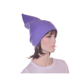 Purple Pointed Elf Hat Dwarf Gnome Stocking Cap Fleece