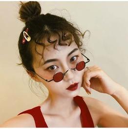 Retro Sunglasses Female Frame Glasses Small Lenses Mini Sunglasses