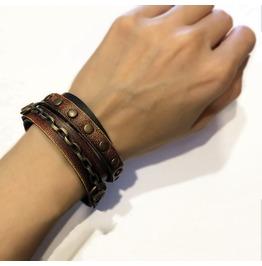 Leather Bracelet. Wrap Bracelet. Wristband