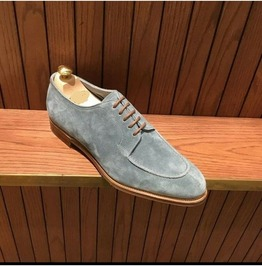 Handmade Gray Dress Shoes, Suede Leather Lace up Shoes,business Dress Shoes