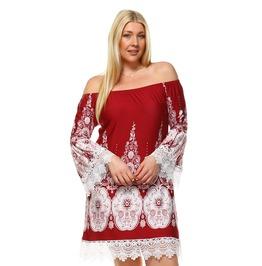 Bell Sleeve Boho Mini Dress