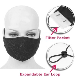 Double Layer Fabric Reusable Face Mask With Disposable Mask Insert
