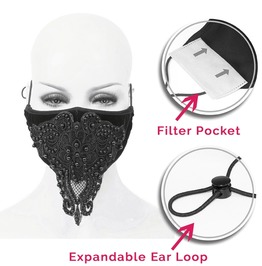 Sparkle Double Layer Fabric Reusable Face Mask With Disposable Mask Insert