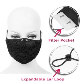 Meshed Double Layer Fabric Reusable Face Mask With Disposable Mask Insert