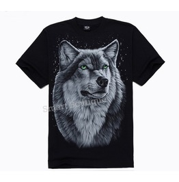 Personalized Rock Wolf Print Men's T Shirt Tee