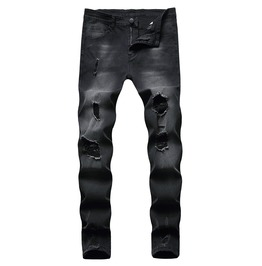 Ripped Stretch Skinny Jeans for Men