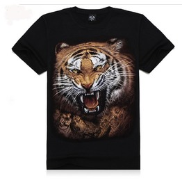 Personalized Rock Tiger Print Men's T Shirt Tee