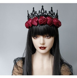 Vintage Witch Halloween Supplies Baroque King Crown Hair Band