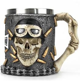 Gothic Skeleton Bullets Tankard