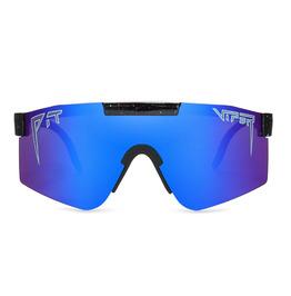 Streetwear Double Wide Polarized Lens Pit Viper Sunglasses