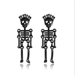 Punk Non-allergenic Bone Earrings Stainless Steel Skull Earrings