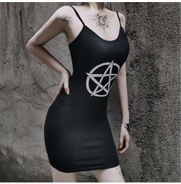 Black Vest Short Skirt Base Short Skirt Sleeveless Sling Waist Dress 82331