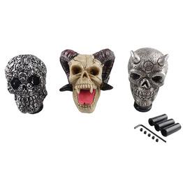 3D Skull Head Resin Universal Manual Car Gear Stick Shift Knob