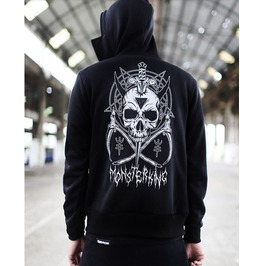 Black Skull Pattern Unisex Fashion Hoodie P Unk
