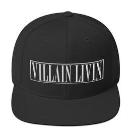 Black Camo Villain Livin Embroidery Snapback Cap