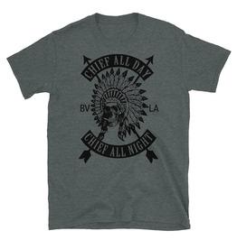 Chief All Day Chief All Night Skull Headdress T-shirt