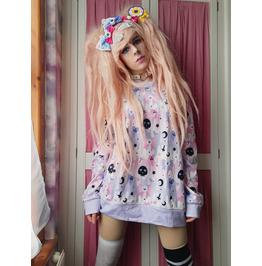Pastel Goth Sweatshirt Fairy Kei Clothing Pastel Pink Skull Sweatshirt