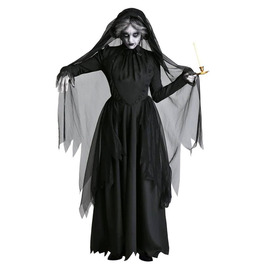 Gothic Medieval Scary Dress Horror Bride Halloween Vampire Gown