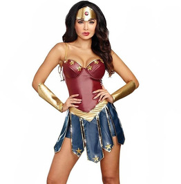 Gothic Steampunk Diana Wonder Woman Halloween Costume