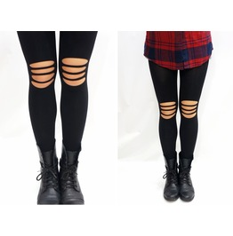 Knee Ripped Rocker Tights